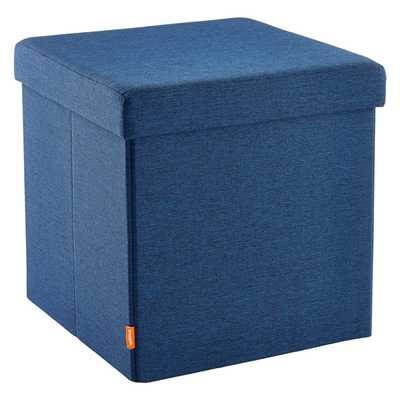 Poppin Box Seat Navy - containerstore.com
