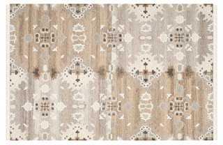 Moone Flat-Weave Rug, Gray - One Kings Lane