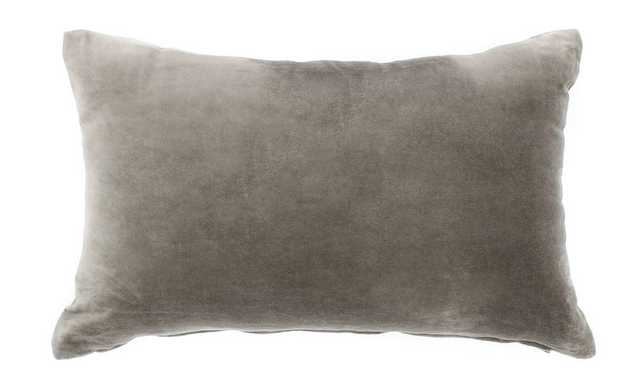 Velvet Grey Pillow - Domino