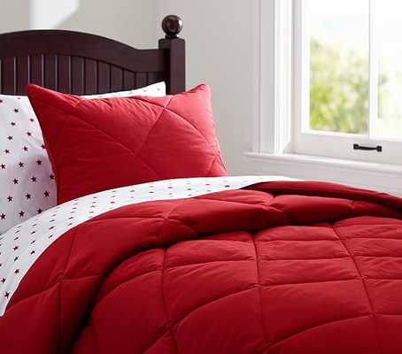 Cozy Comforter - Twin - Red - Pottery Barn Kids