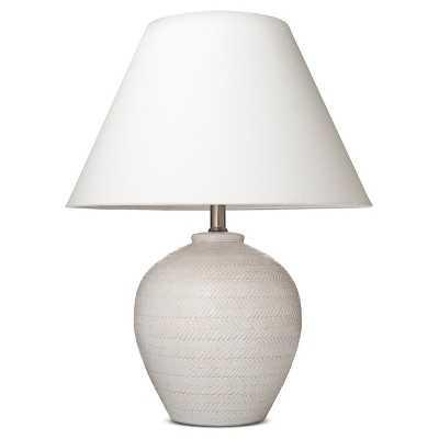 Carved Ceramic Table Lamp - Target