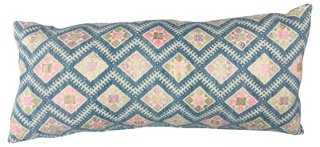 Antique Dowry Quilt Pillow - One Kings Lane