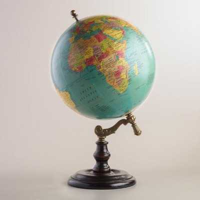 Blue Globe on Wood Stand - World Market/Cost Plus