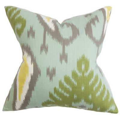 "Bentshaya 18"" Aquamarine Throw Pillow-Feather insert - AllModern"