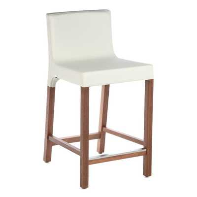 Knicker Bar Stool with Cushion - White - AllModern