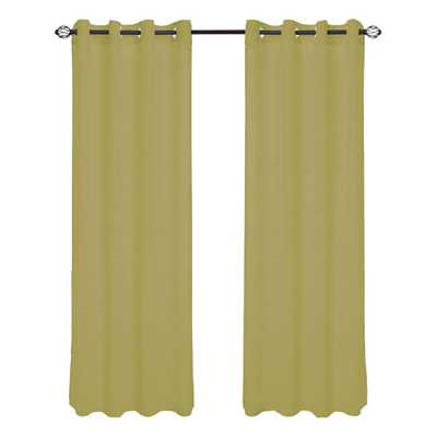 "Mia Jacquard Grommet Single Curtain Panel - Light Green - 84"" - AllModern"
