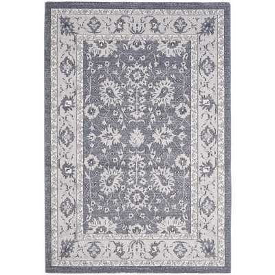 Safavieh Carmel Dark Grey/ Beige Cotton Rug (8' x 10') - Overstock