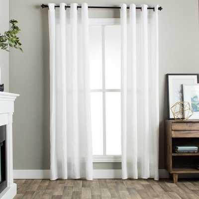 Julia M Fuller Vintage Washed Belgian Linen Curtain Panel - 50'X108' - Overstock
