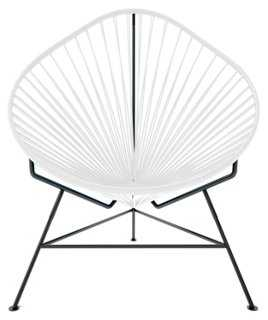Acapulco Chair, Black/White - One Kings Lane