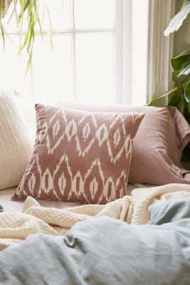 "Alyssa Ikat Pillow - 18""l x 18""w - Mauve - Insert Sold Separately - Urban Outfitters"