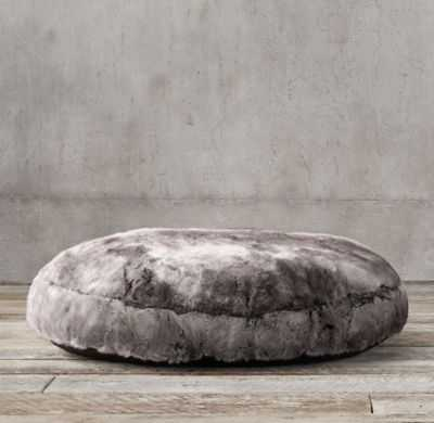 LUXE FAUX FUR ROUND PET BED - RH
