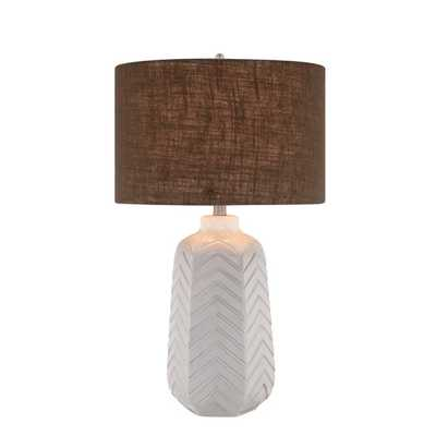 "27"" H Table Lamp with Drum Shade - AllModern"