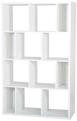 Reveal Pure White 12-Compartment Shelving Unit - Lamps Plus