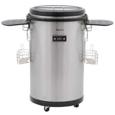 60-Can Beverage Party Cooler in Stainless - Home Depot