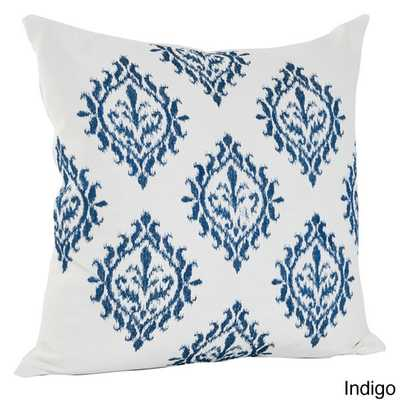 Embroidered Medallion Design Cotton Decorative Throw Pillow - Overstock