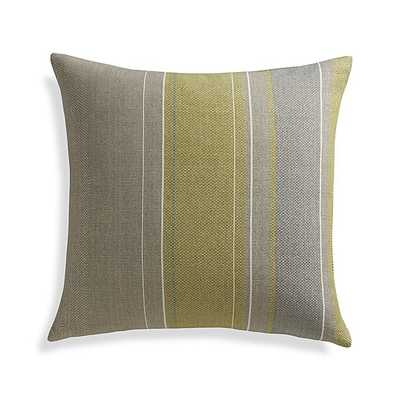 """Jensen 23"""" Pillow with Feather-Down Insert - Crate and Barrel"""