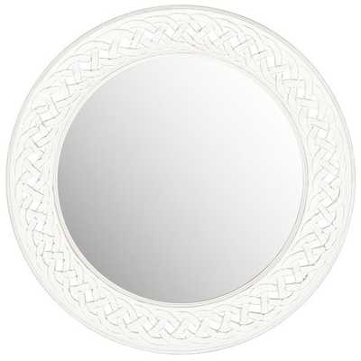 Safavieh Braided Chain White Mirror - Overstock