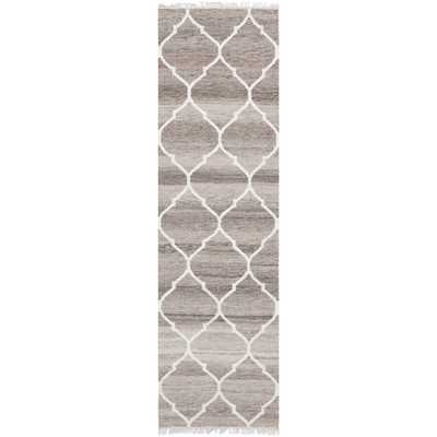 Safavieh Hand-woven Natural Kilim Light Grey/ Ivory Wool Rug (2'3 x 10') - Overstock