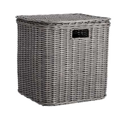 WICKER WEAVE STORAGE CUBE - Pottery Barn