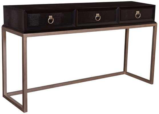 Cranbrooke Espresso Console Table - Lamps Plus