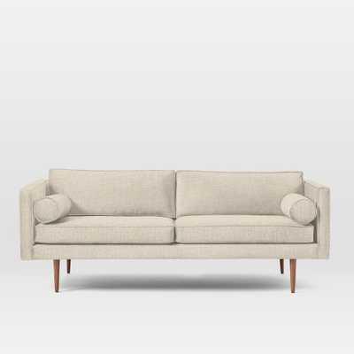 Monroe Mid-Century Sofa - Pebble Weave, Oatmeal - West Elm