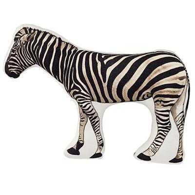 """Zebra Throw Pillow -8""""Wx15""""H - Polyester Insert - Land of Nod"""