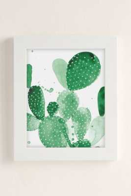 The Aestate Green Paddle Cactus Art Print-13X19-Framed - Urban Outfitters