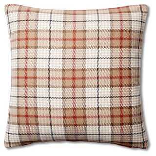 Plaid Cotton Pillow - One Kings Lane