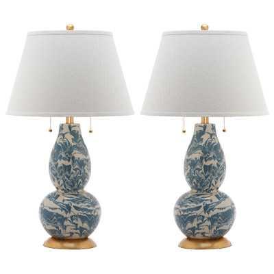 "Carnahan 32"" H Table Lamp with Empire Shade - Wayfair"