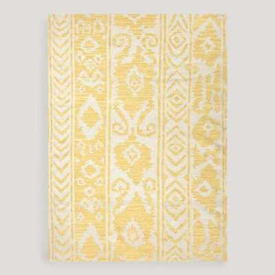 Yellow Lucine Flat-Woven Wool Rug - World Market/Cost Plus