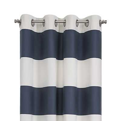 "Alston Midnight 50""x84"" Curtain Panel - Crate and Barrel"