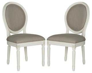 Gray Hunter Side Chairs, Pair - One Kings Lane