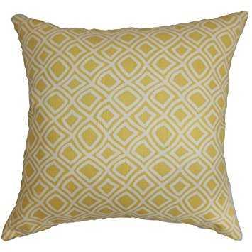 Cacia Geometric Pillow Yellow - Linen & Seam