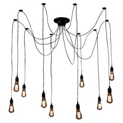 Cora 10 Light Cluster Chandelierby Warehouse of Tiffany - Wayfair