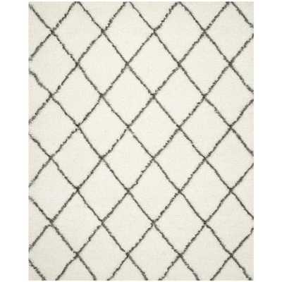 Safavieh Moroccan Shag Ivory/ Grey Rug (11' x 15') - Overstock