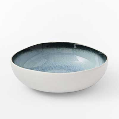 Organic Shaped Crackle Dinnerware - Blue-Bowl - West Elm