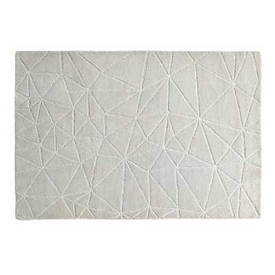 5' x 8' Grey Crystal Mosaic Rug - Land of Nod