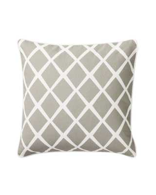 Diamond Pillow Cover - Bark - 20x20 - Insert Sold Separately - Serena and Lily