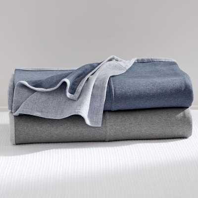 Sweatshirt Blanket, Twin, Navy - Pottery Barn Teen