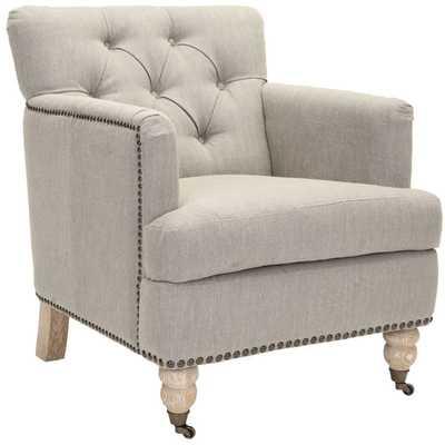 Haukesworth Linen Arm Chair - Wayfair