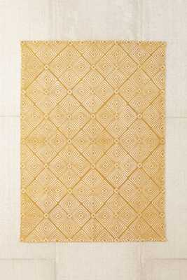 """Plum & Bow Tia Mark Making Printed Rug-5""""x7""""- Gold - Urban Outfitters"""