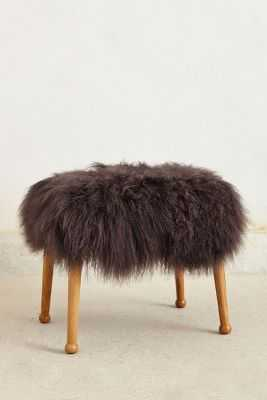 Luxe Fur Stool - Anthropologie