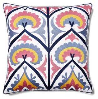 Suzani Stripe Pillow - One Kings Lane