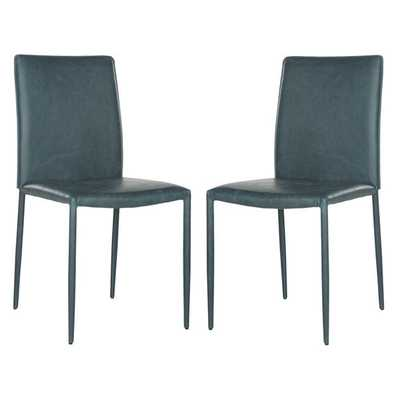 Safavieh Karna Antique Teal Dining Chair (Set of 2) - Overstock