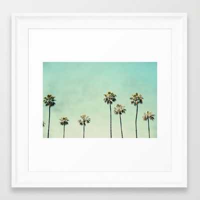 "Palm Trees - 12"" x 12"" - Framed - Society6"