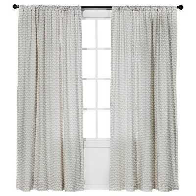 Origami Print Curtain Panel - Cream - Overstock