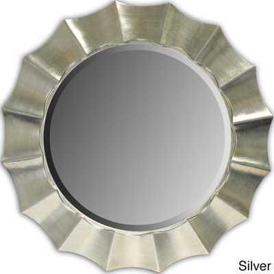 Sunshine Beveled Decorative Round Mirror - Overstock