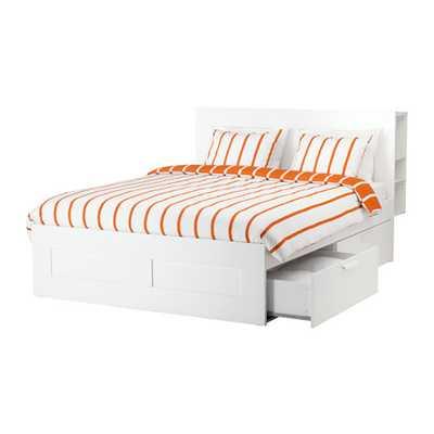 BRIMNES Bed frame with storage & headboard - Ikea