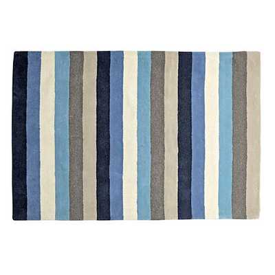 "5"" x 8"" Blue Stripe Rug - Land of Nod"