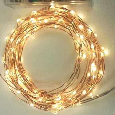 100 Fairy Lights - AA Copper - Etsy